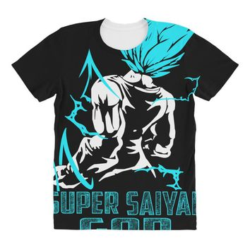 Super Saiyan God Vegeta All Over Women's T-shirt