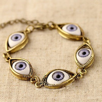 Cool gold eyes bracelet