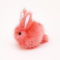 Coral Bunny Rabbit Super Soft Stuffed Toy Animal Plushie -4 x 5 Inches Small Size