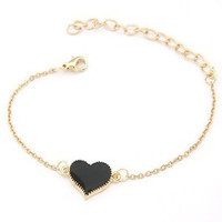Gold Heart Bangle Bracelets 3 Colors For Women Jewelry Luxury