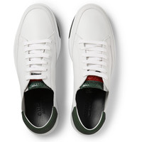 Gucci - Suede and Watersnake-Trimmed Leather Sneakers | MR PORTER