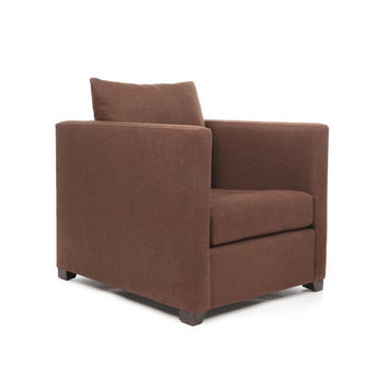 """Eclipse Home Collection Venice Chair Burbery Coffee Nickel Nailheads 38"""" L  x 40"""" W  x 37"""" H"""