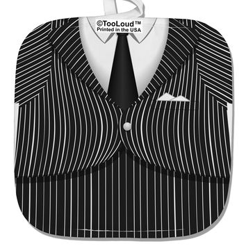 Pinstripe Gangster Jacket Printed Costume White Fabric Pot Holder Hot Pad All Over Print