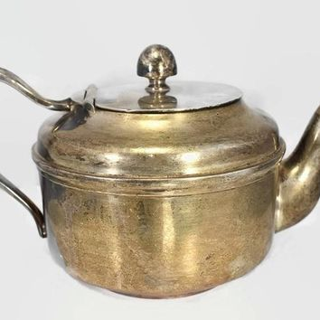 Reed and Barton USN Silver Soldered Teapot c1940s WWII Era