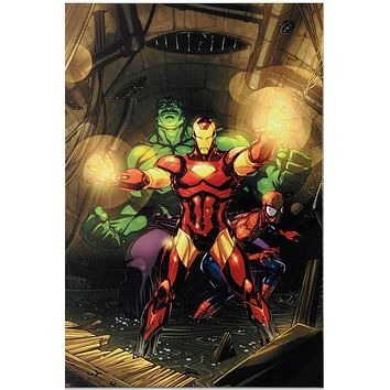 Secret Invasion #7 - Limited Edition Giclee on Stretched Canvas by Leinil Francis Yu and Marvel Comics