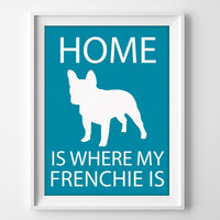 "8x10"" French Bulldog Wall Art, Illustrated Dog Art, Frenchie Decor, Dog Breed Wall Art, Minimalist Pet Art, Puppy Print, Frenchie Gift"