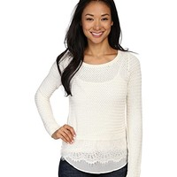Lucky Brand Lace Mix Sweater