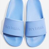 Embossed Logo Sock Sliders by Ivy Park | Topshop