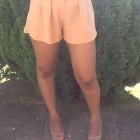 Peach Wide Leg Shorts with Belt | Fabuglitz | ASOS Marketplace