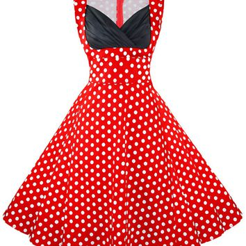 Atomic Vintage Red Polka Dot Cocktail Dress