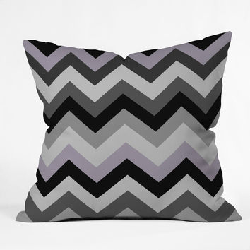 Romi Vega Chevron Black Throw Pillow