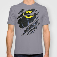the dark knight Batman Bruce wayne torn unisex adult, kids and baby tee T-shirt by Three Second