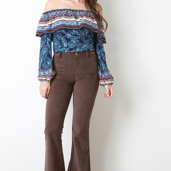 Vintage Suede Bell Bottoms