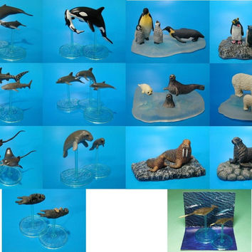Bandai World Nature Animals Collection Ocean Sea Ver. 13+1 Secret 14 Trading Figure Set
