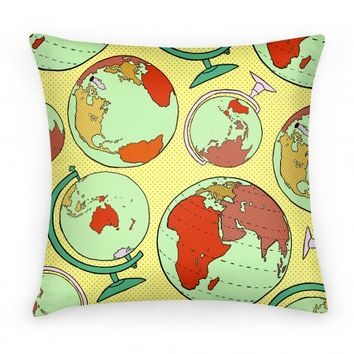 Wanderlust World Globe Pattern