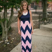 chevron tank maxi dress