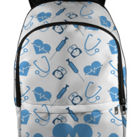 Nurse Love All Over Backpack - Backpack