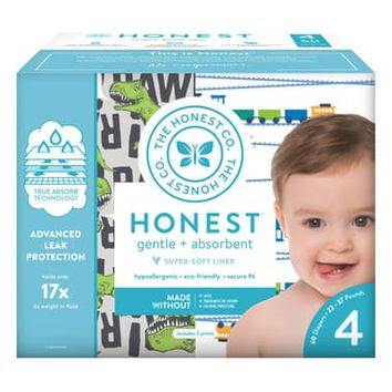 The Honest Company T-Rex/Trains Size 4 Club Box Diapers | Nordstrom