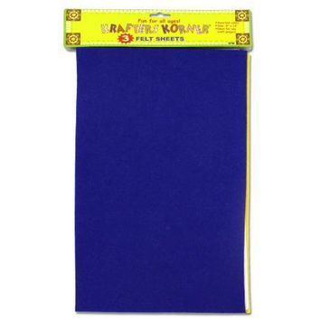 Colored Craft Felt Sheets ( Case of 36 )