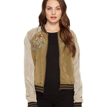 ROMEO & JULIET COUTURE Embroidered Varsity Jacket