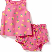 2-Piece Lemon-Print Tank and Bloomer Set for Baby | Old Navy