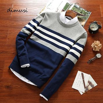 DIMUSI Autumn Men's Pullover Sweaters Mens Turtleneck Casual Sweater Male O Neck Slim Fit Brand Knitted Pullovers Clothing 4XL