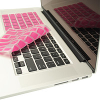 "TopCase Pink Silicone Keyboard Cover Skin for Macbook Pro 13"" 15"" 17"" with or without Retina Display"