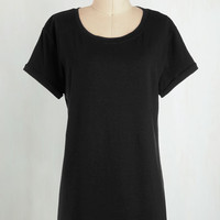 Minimal Long Short Sleeves Cover-up Simplicity on a Saturday Tunic in Black