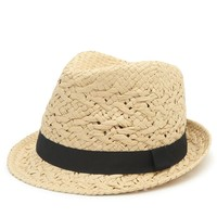 With Love From CA Classic Fedora - Womens Hat - Natural - One