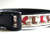 Western Cowboy Dog Collar Adjustable Sizes (M, L, XL)