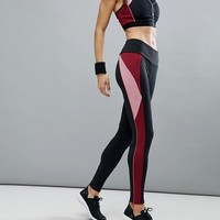 Esprit Colour Block Gym Leggings at asos.com