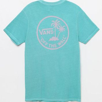 DCCKJH6 Vans Vintage Mini Palm Teal T-Shirt