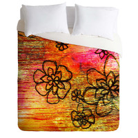 Sophia Buddenhagen Yellow Flowers Duvet Cover