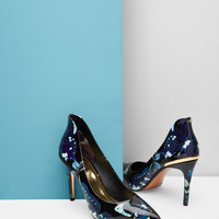 Printed patent leather courts - Jet | Shoes | Ted Baker