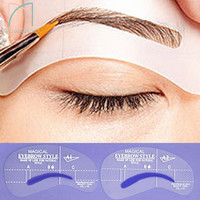 4 styles/set Grooming Stencil Kit Shaping DIY Beauty Eyebrow Template Make Up Tool 24 setyles