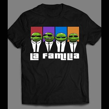 "TEENAGE MUTANT NINJA TURTLES ""LA FAMILIA"" MAFIA STYLE CARTOON SHIRT"