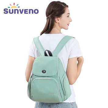 Sunveno Fashion Mummy Maternity Diaper Backpack Nappy Bag DesignerNursing Bag for Baby Care