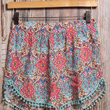 Florida Keys Tassel Shorts