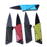5 Color Pocket Knife Hilt Add a Layer Steel Plate Mini Wallet Credit Card Knife Folding Blade Multi Functional Knife OPP Bag