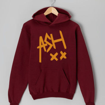ash signature maroon hoodie for men and women