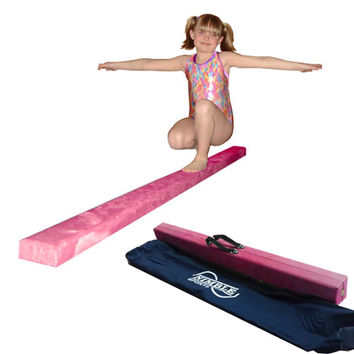 8ft Pink Gymnastics Folding Balance Beam by Nimble Sports
