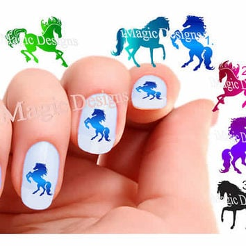 Nail Decals, Water Slide Nail Art Transfers, Horse