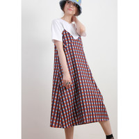 (Korean) Checkers Slip Dress