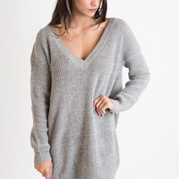 Taupe Tonight Sweater Dress