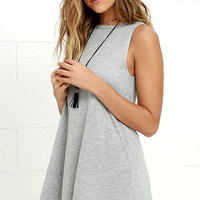 Billabong Last Call Heather Grey Swing Dress