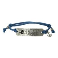 Disney Finding Nemo Just Keep Swimming Cord Bracelet