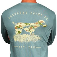 SPC Signature Long Sleeve Camo Greyton Tee by Southern Point Co.