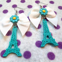 Paris in Love Eiffel Tower Earrings