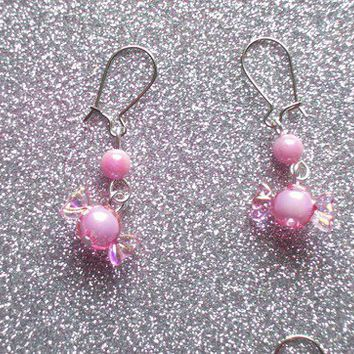Sweet Pastel Candy Earrings - Your choice of Pink, Blue, or Purple from On Secret Wings