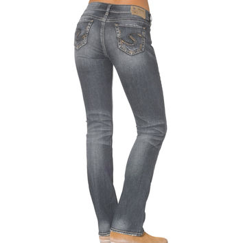 Silver Suki Mid Slim Boot Medium Wash Jean